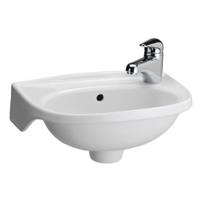 Tina Wall Mounted Bathroom Sink In White 4 551wh Small Bathroom