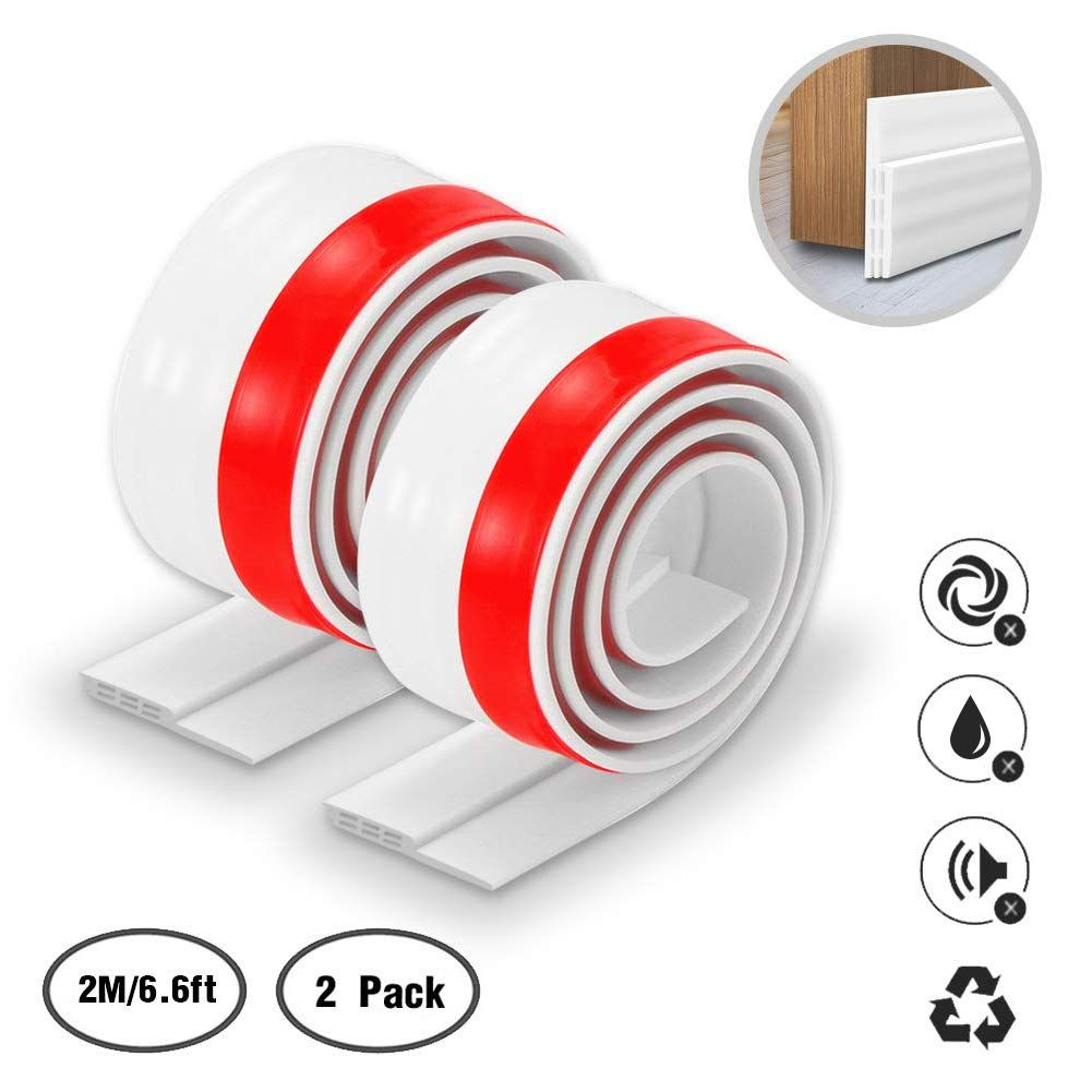 Door Draft Stopper Keliiyo Weather Stripping For Doors Bottom Selfadhesive Silicone Rubber Under Door Bott Door Draught Stopper Draft Stopper Weather Stripping