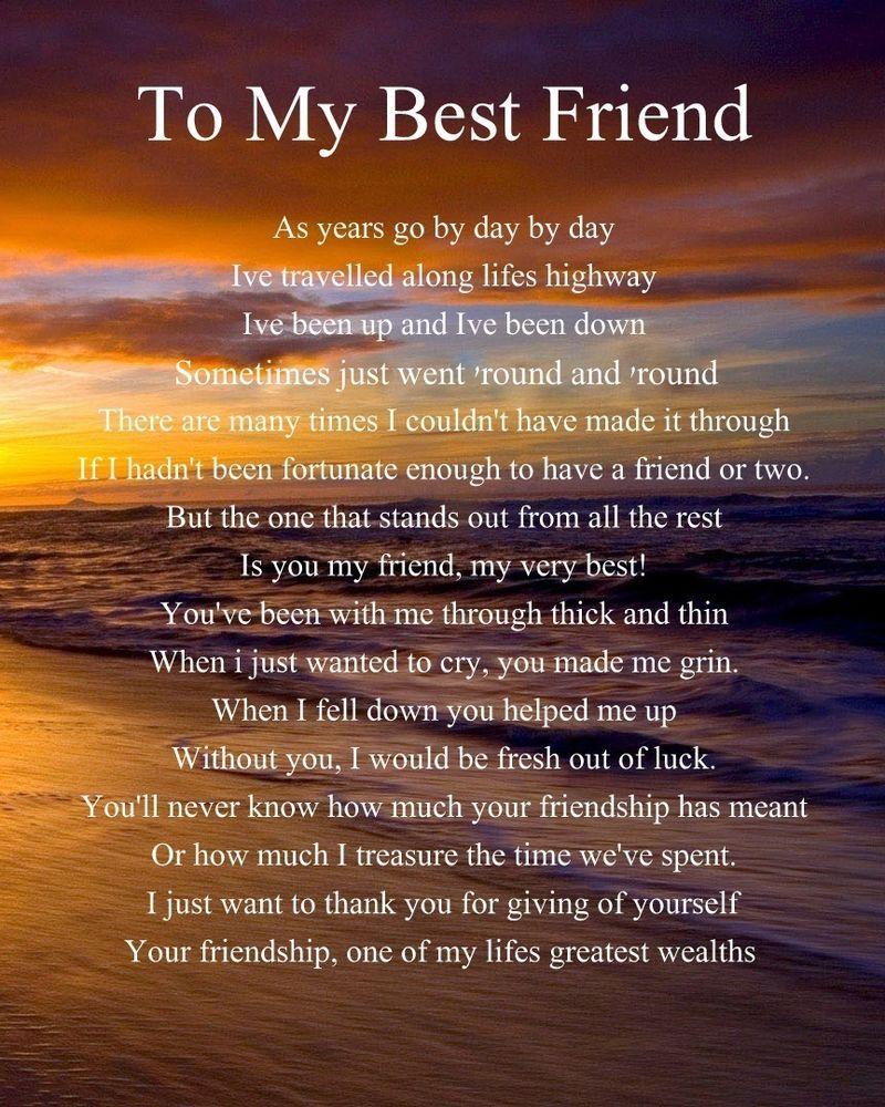 Letter Best Friend Her Wedding Day Shauntervention Personalised Poem Birthday Christmas Gift Present
