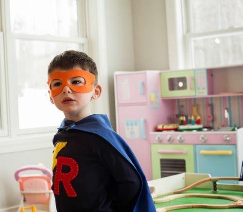 Superhero birthday capes and masks