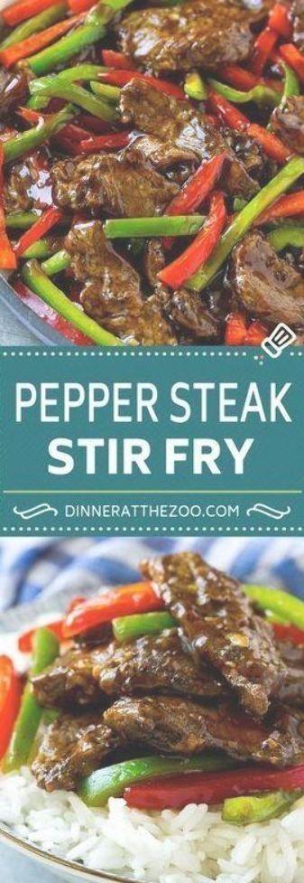 Pepper Steak Stir Fry Recipe  Chinese Pepper Steak  Steak Stir Fry  Beef Stir Fry