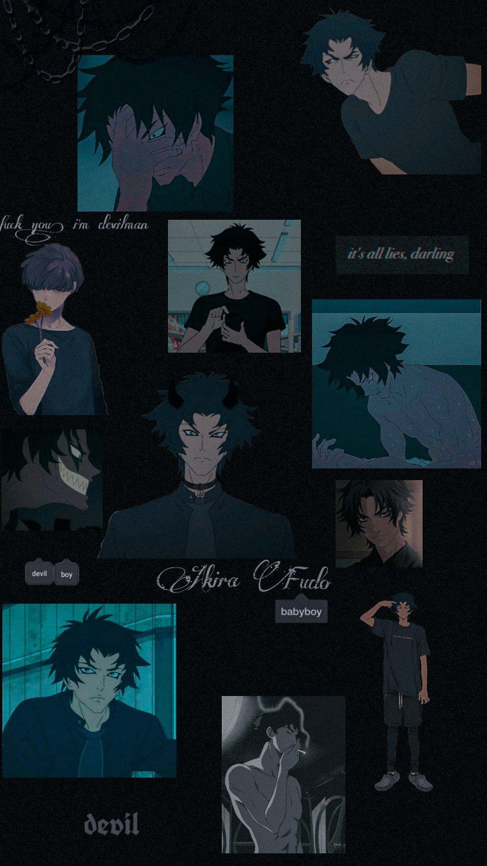 Wallpaper Akira Fudo In 2020 Devilman Crybaby Cute Anime Wallpaper Anime Background