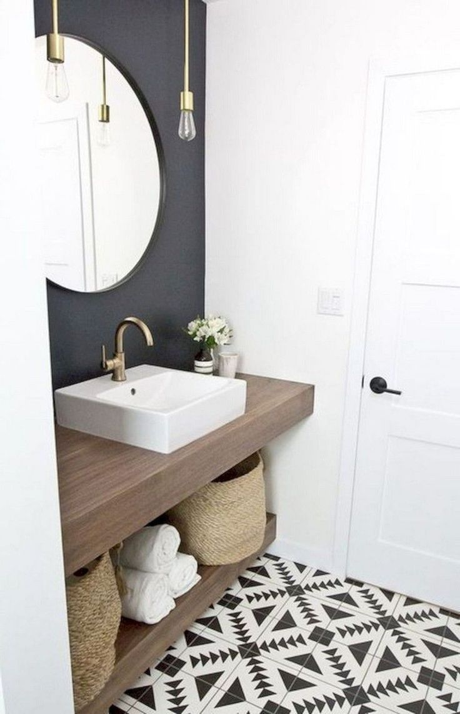 40 Attractive Half Bathroom Ideas On A Budget Small Apartment Bathroom Budget Bathroom Remodel Small Bathroom Remodel