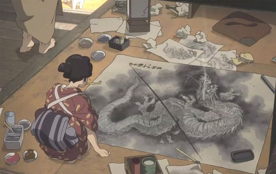 Miss Hokusai An Animated Film That Tells The Story Of An Artist Lost In Her Father S Shadow Miss Hokusai Animation Film Hokusai