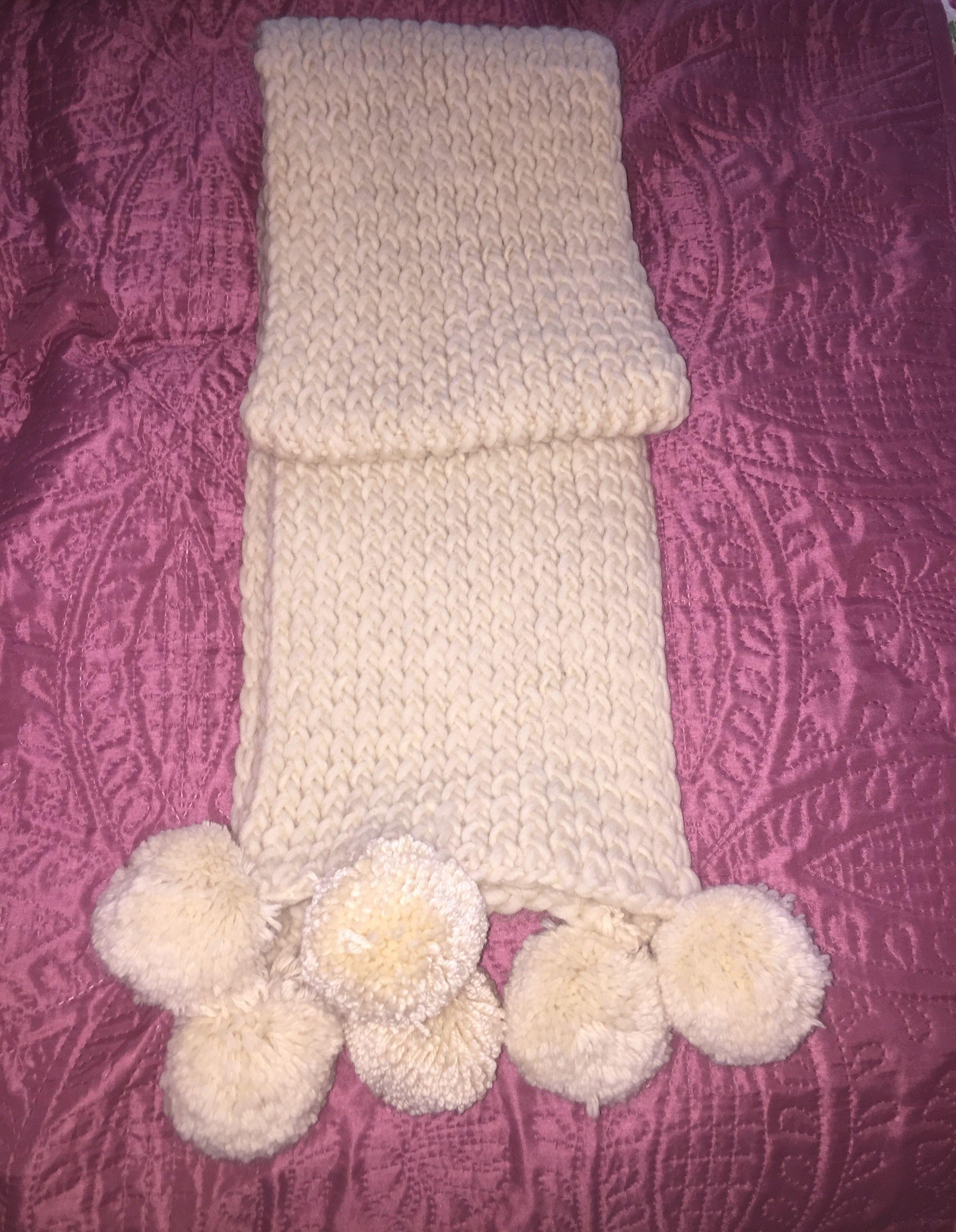 tricoter une echarpe avec un tricotin