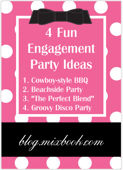 Check out these fun engagement party ideas and coordinating invitations!