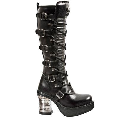 New Rock Damen Boots Stiefel gothic schwarz M.8272-S2