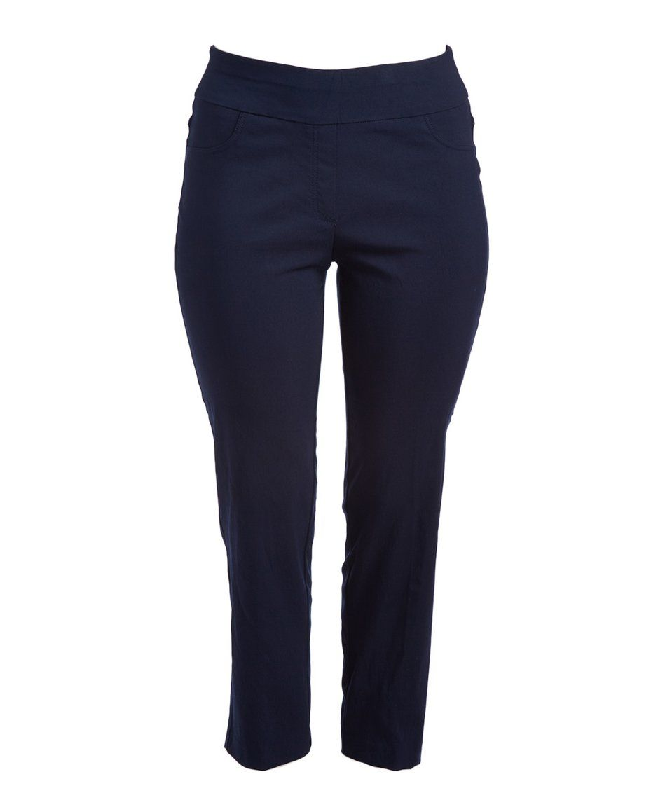 Take a look at this Navy StretchTech Twill Pant - Plus Too today!