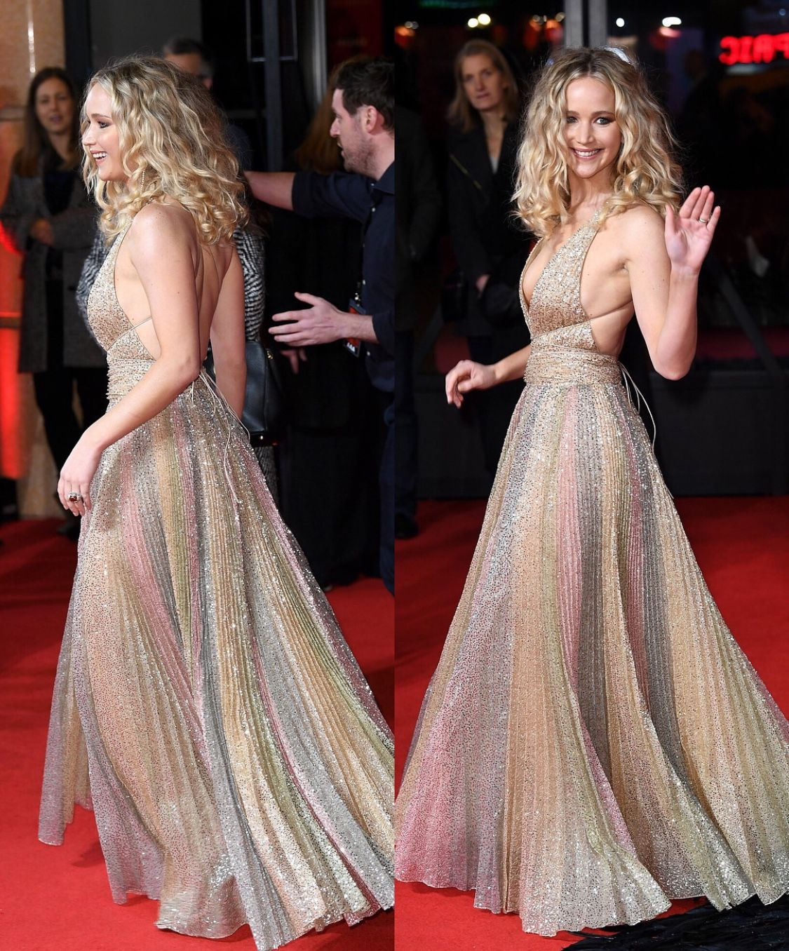Jennifer Lawrence Works the Red Carpet at Red Sparrow