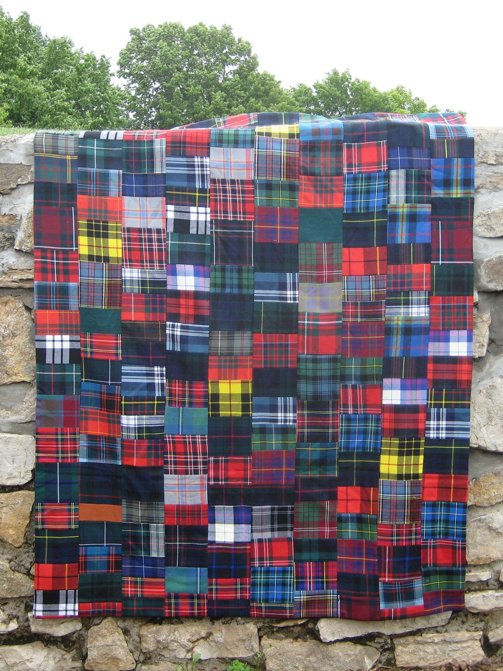 Beautiful Authentic Scottish Wool Tartan Quilt Etsy Quilts Tartan Scottish