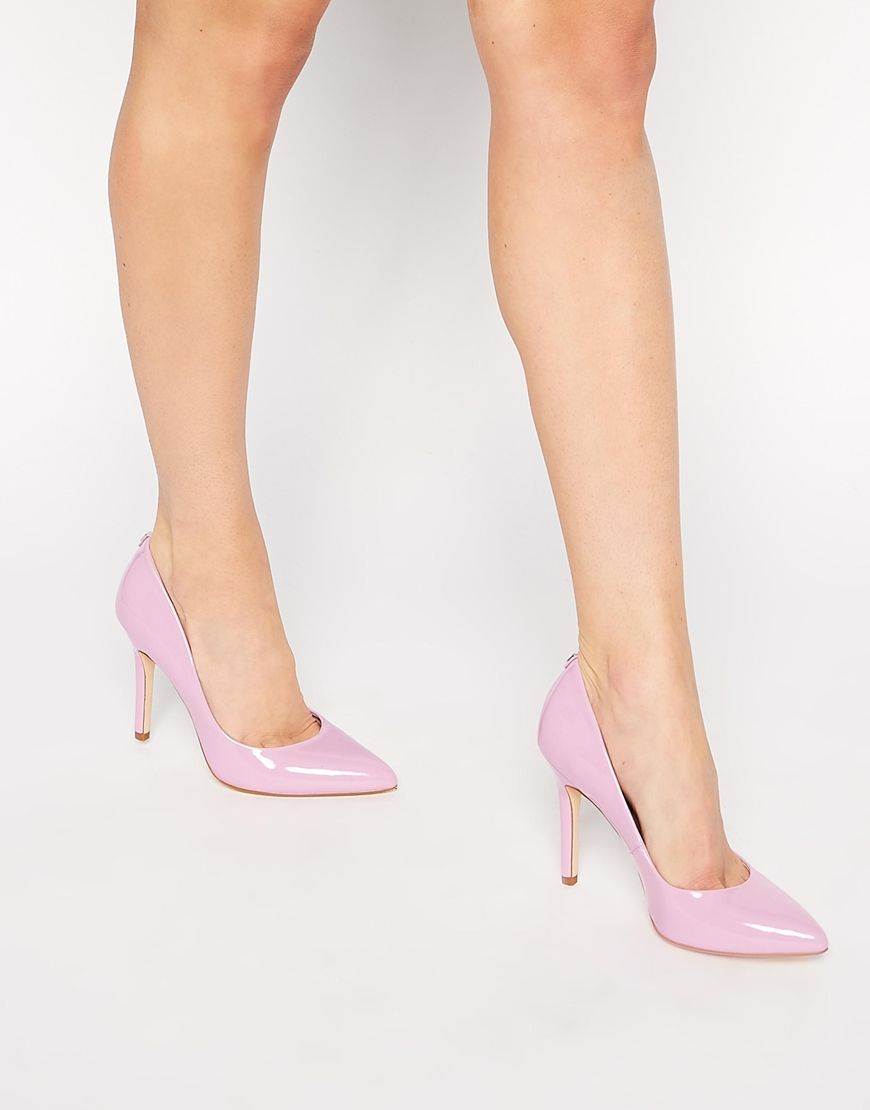 Image 1 of Faith Callaways Pink Patent Heeled Pumps