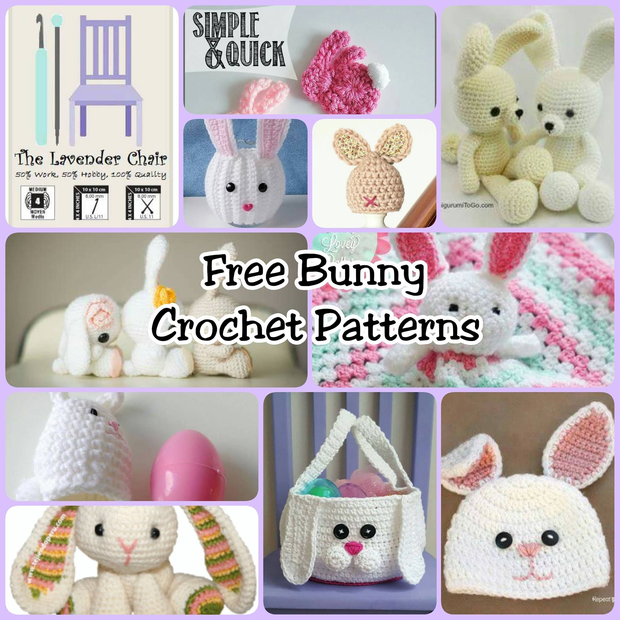 Free bunny crochet patterns the lavender chair lavender bunny free bunny crochet patterns bankloansurffo Choice Image