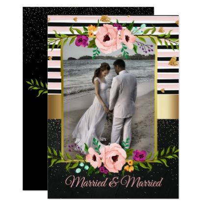 Rustique Fl Wedding Announcement Card