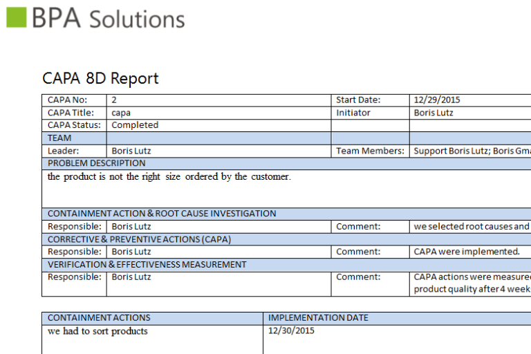 8d Report Template Xls 4 Templates Example Templates Example Report Template Templates Resume