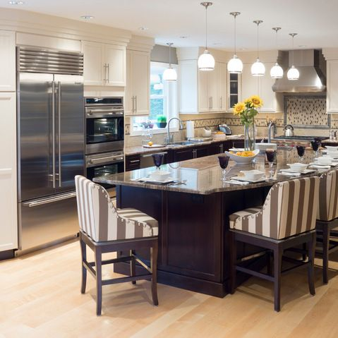 contemporary l shaped kitchen with pantry room island design ideas pictures remodel and decor on kitchen island ideas v shape id=33844