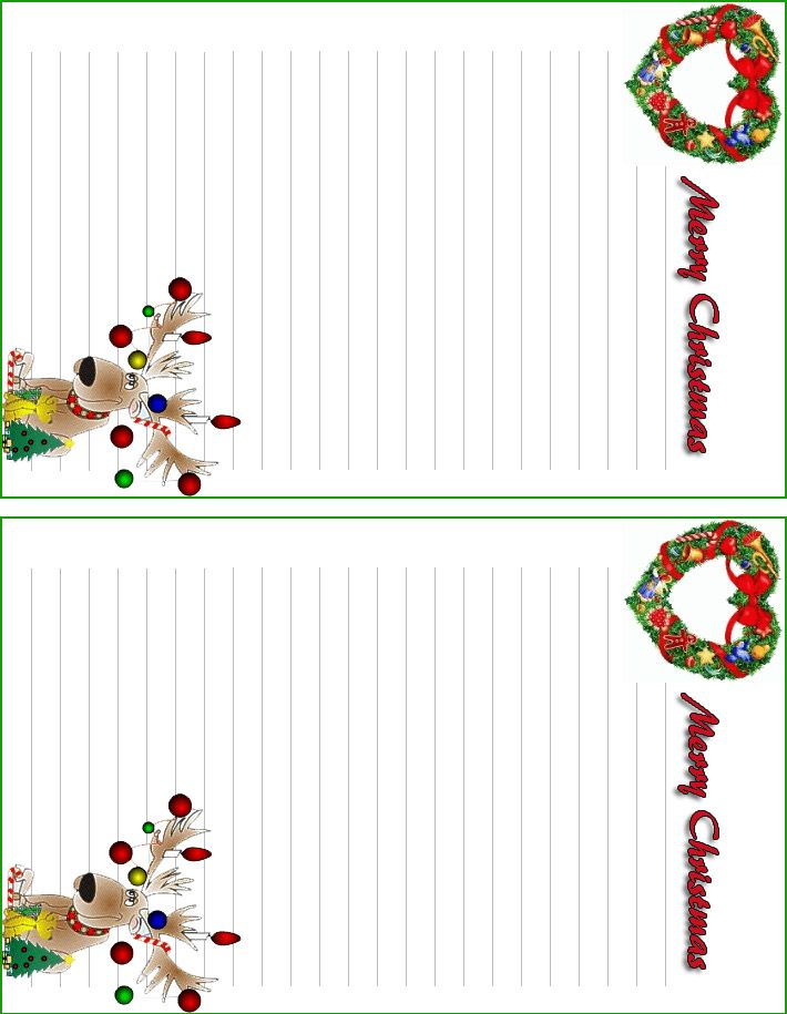 Free Printable Christmas Letterhead With Santa Christmas Wrath