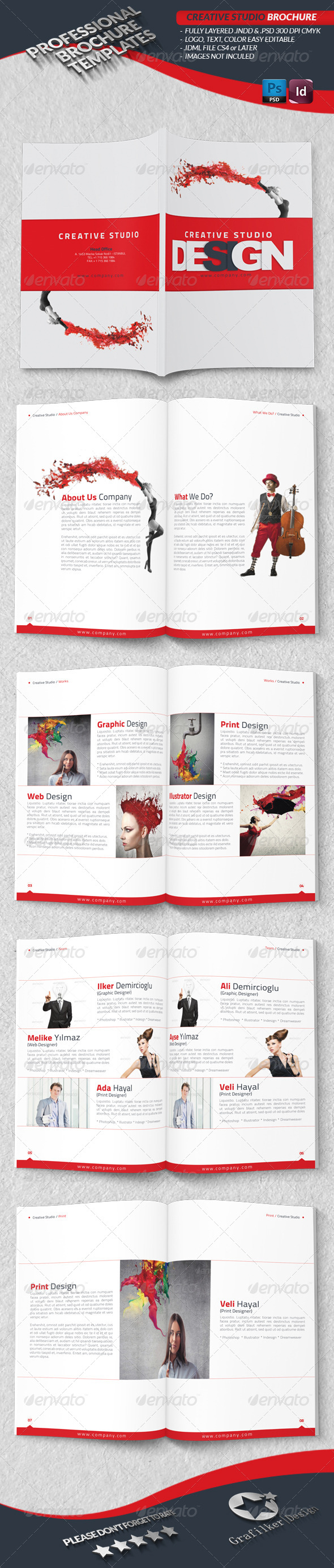 Creative Studio Brochure Graphicriver Corporate Business Brochure