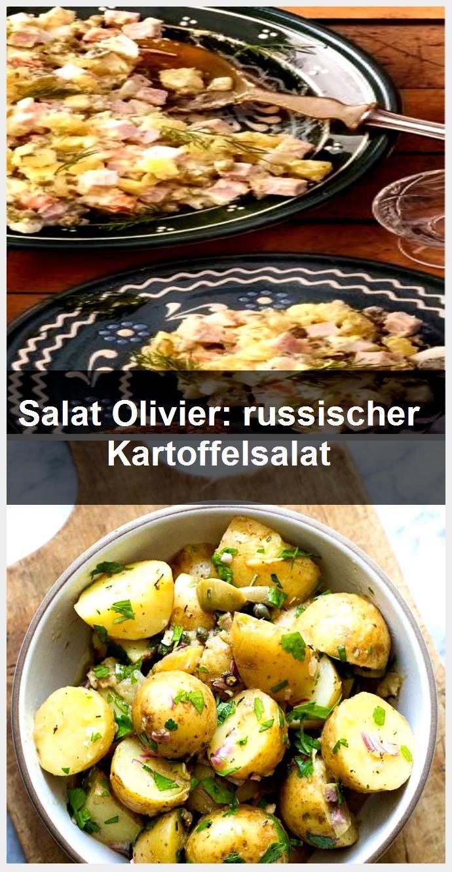 Salat Olivier: russischer Kartoffelsalat,  #Kartoffelsalat #Olivier #russischer #salat #olivierrussischersalat