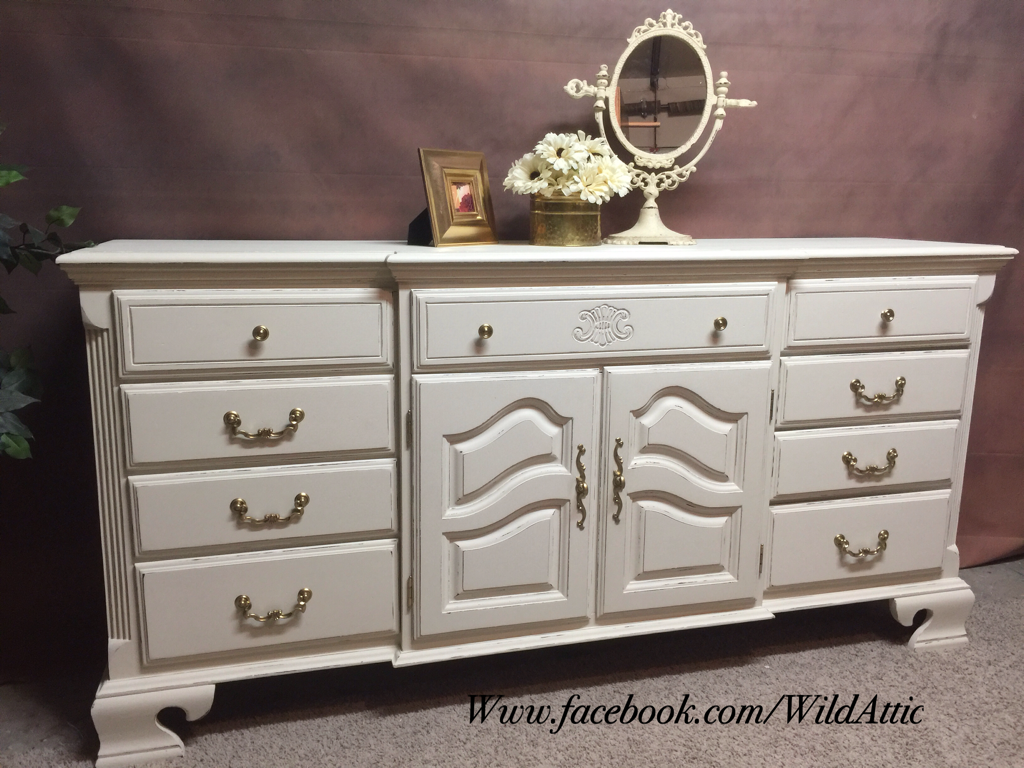Classic Elegance 12 Drawer Dresser In Antique White Chalk Paint Lightly Distressed With Gold Hardware 12 Drawer Dresser Entry Tables Nursery Changing Table [ 768 x 1024 Pixel ]