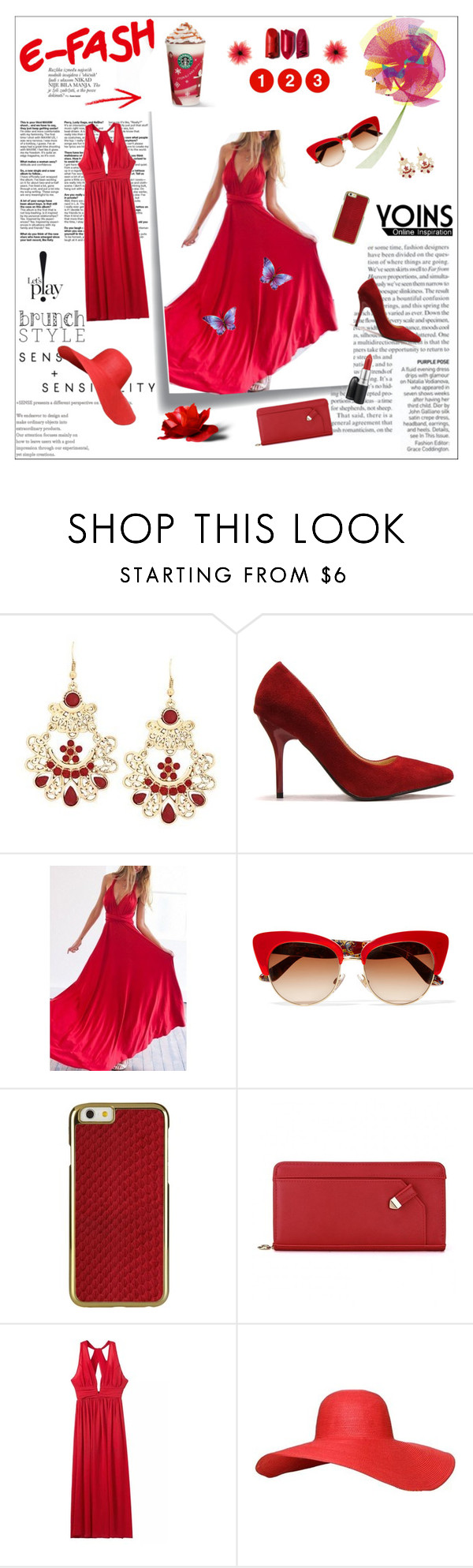 """""""Flame Red Skirt"""" by loveyoins ❤ liked on Polyvore featuring Post-It and Dolce&Gabbana"""