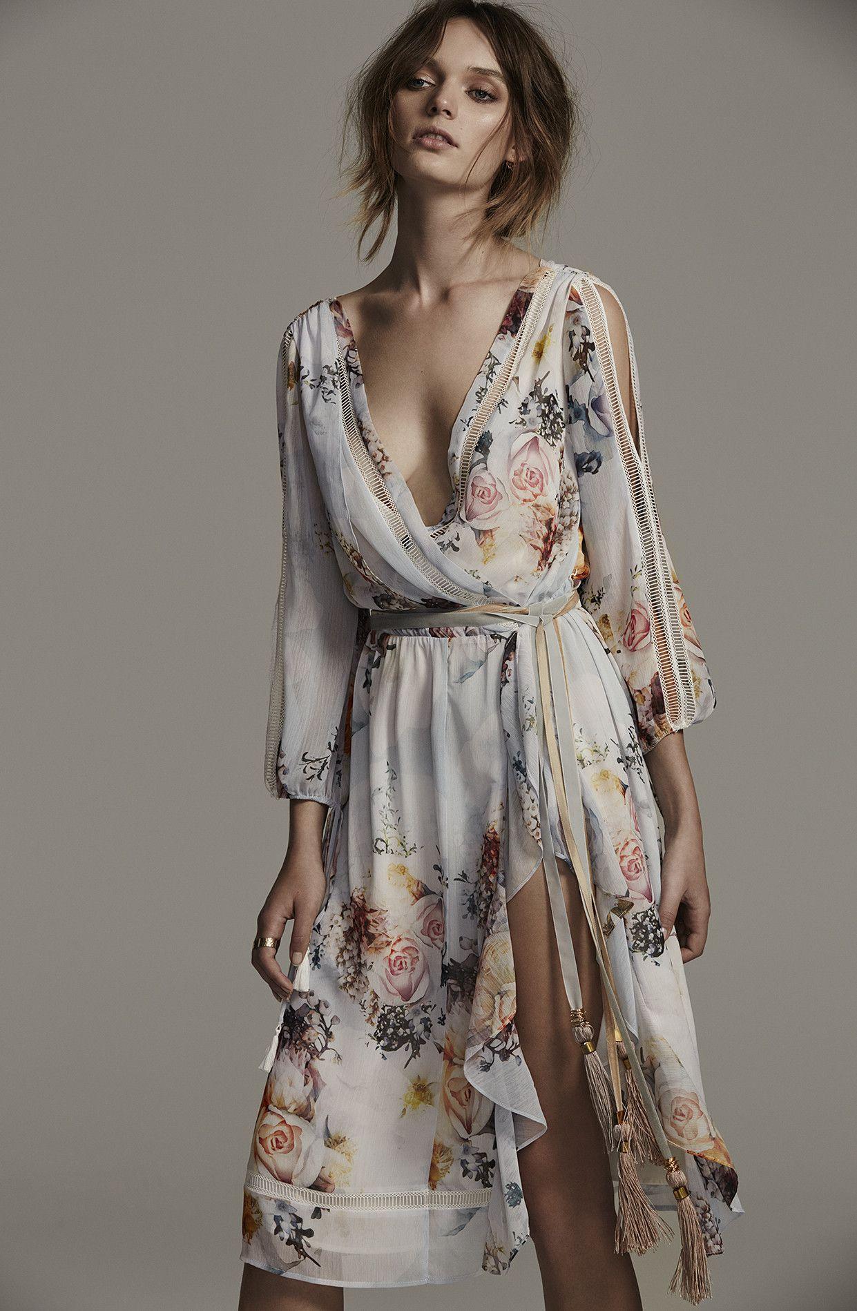 Primrose Split Sleeve Midi Dress, in Posie