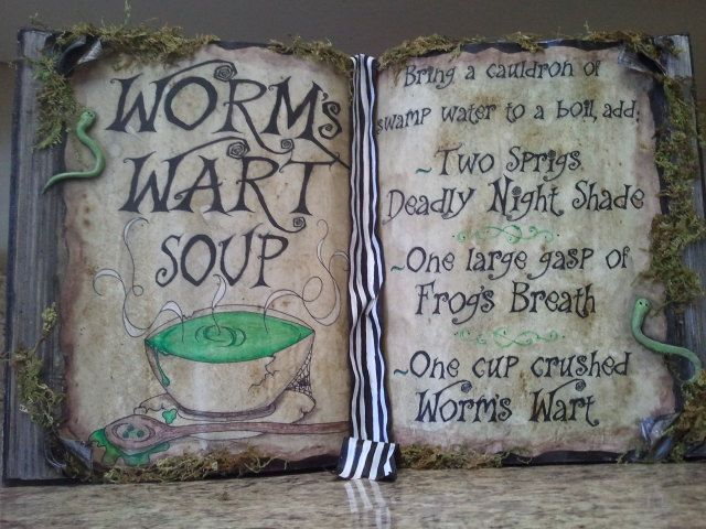 DIY Nightmare Before Christmas Halloween Props: DIY Antique Book ...