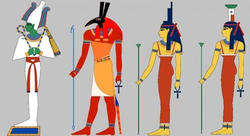 Osiris, Set, Isis and Nepthys the Children of Nut and Geb | ANGEL