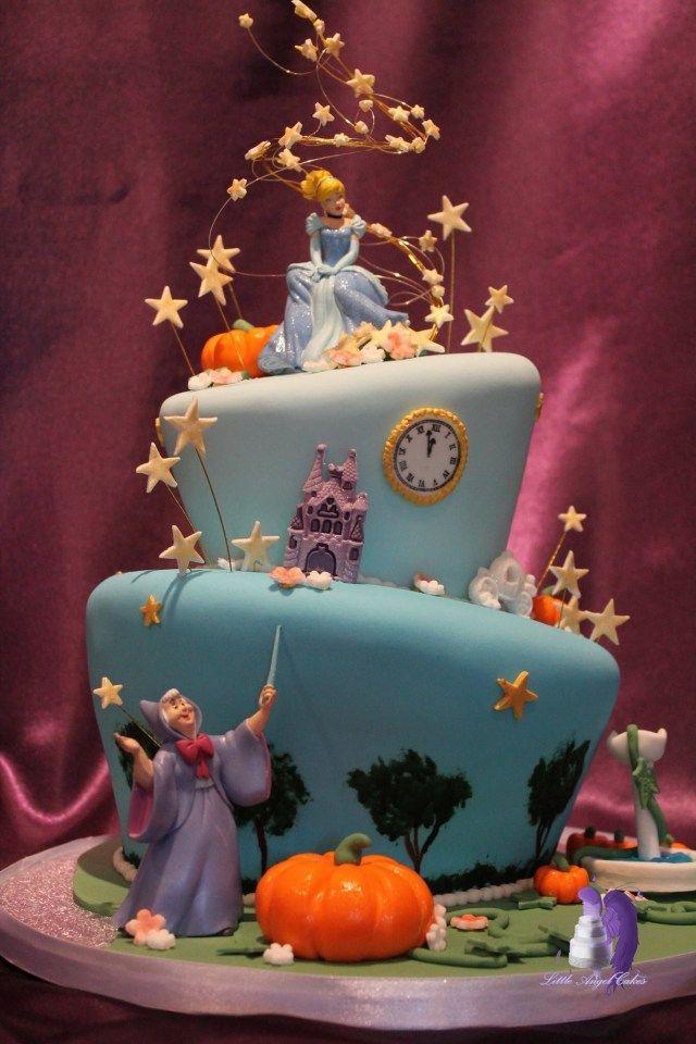 Terrific 24 Beautiful Photo Of Cinderella Cake Birthday Cinderella Funny Birthday Cards Online Eattedamsfinfo