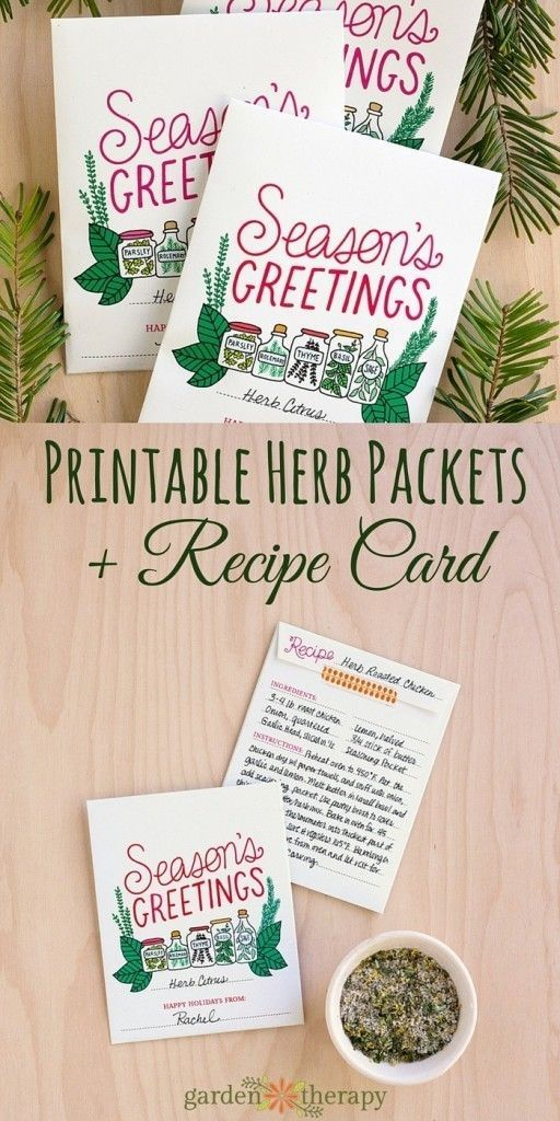 Seasons greetings a kitchy printable herb packet gift idea herbs seasons greetings printable holiday herb card and recipe gift idea m4hsunfo
