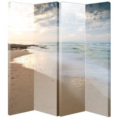 Room Beach Scene Divider Screen