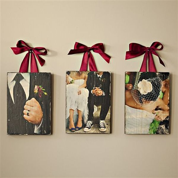 10 Romantic Wedding Photo Display Ideas