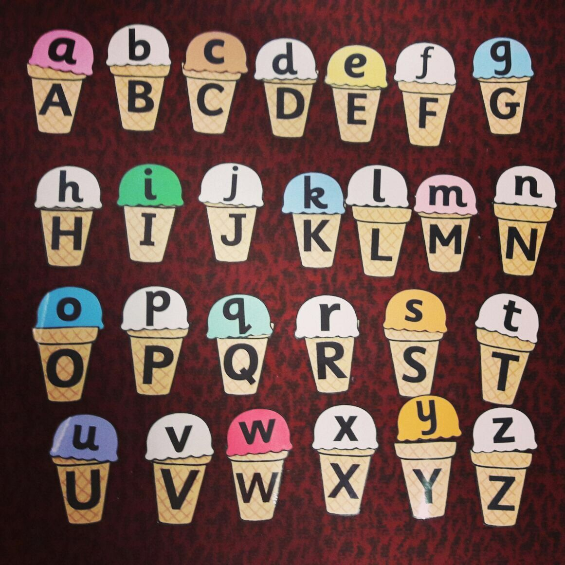 Lower Case And Upper Case Matching Game Arranging
