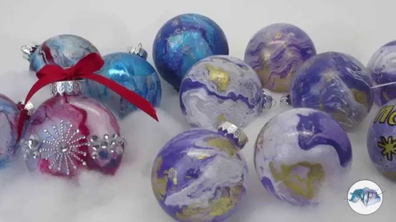 Diy Christmas Ornaments Spray Paint On Water Transfer Kerst Projecten Kerst Knutselen Kerst