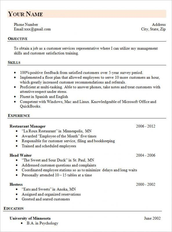 easy resume template  simple resume template simple