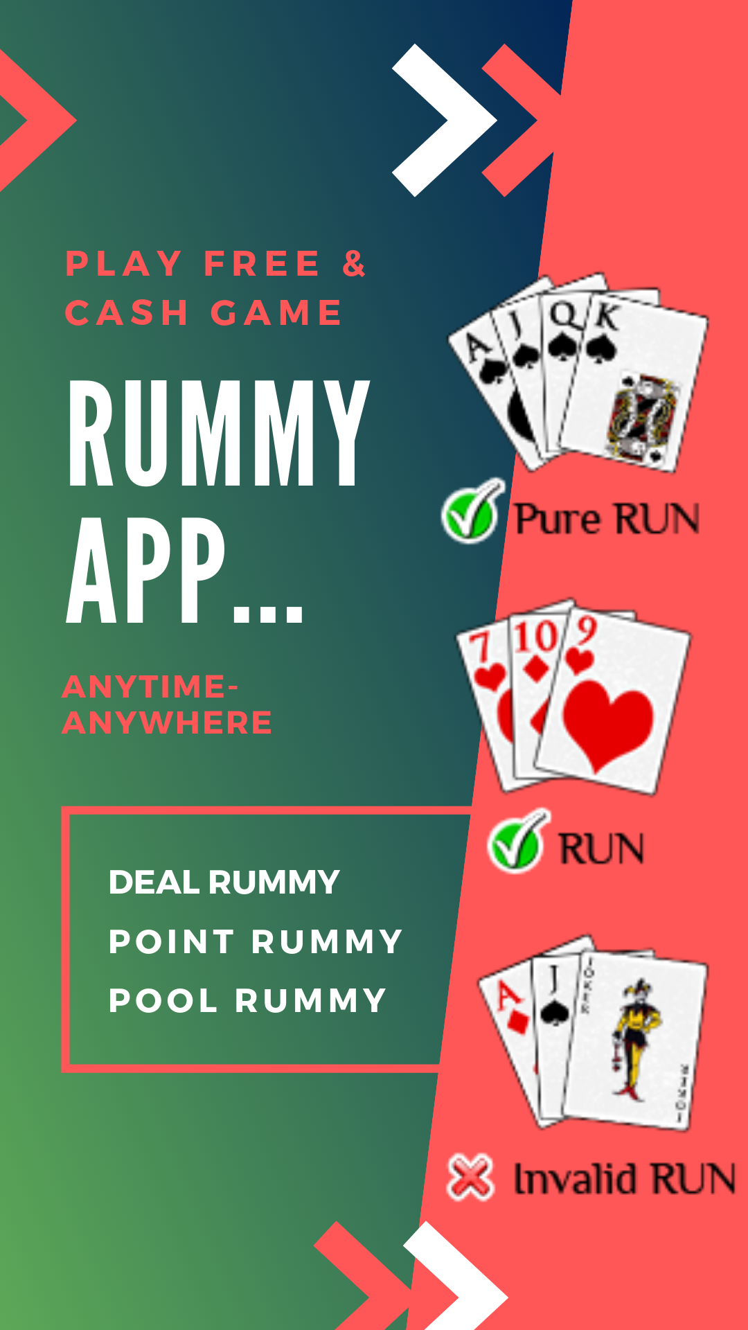 Easy to download rummy app, where you can play free or