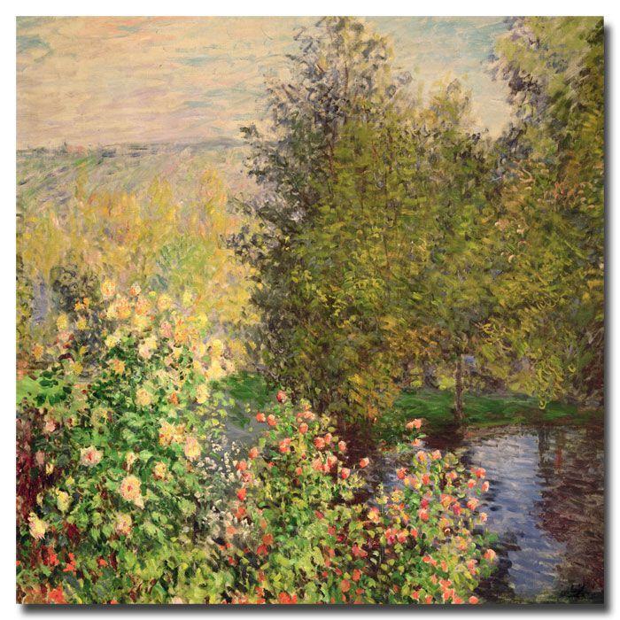 "Trademark Fine Art 35x35 inches Claude Monet ""Corner of the Garden at Montgeron 1876"""