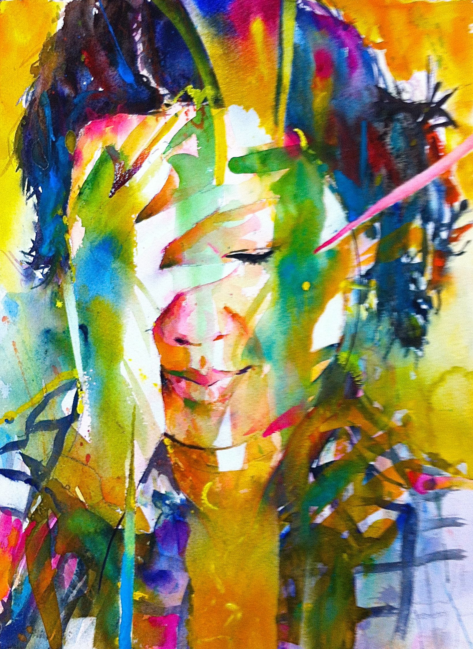 Ben Tour In 2019 Watercolor Art Watercolor Portraits
