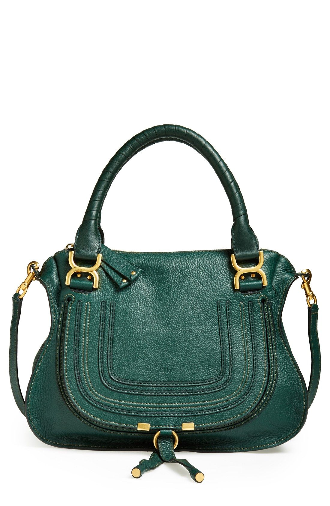 8245f67cc23 Hooked on this green Chloé  Medium Marcie  leather satchel ...