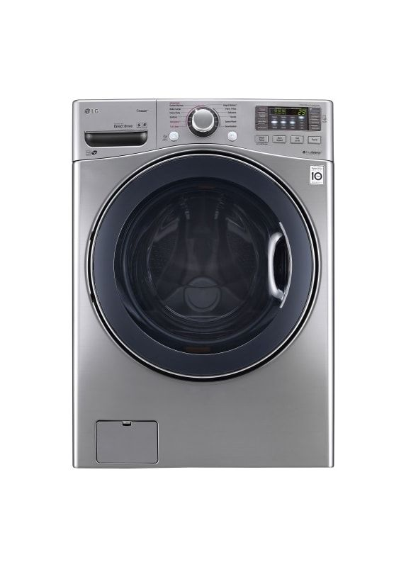 Lg Wm3770ha 27 Inch Wide 4 5 Cu Ft Energy Star Rated Front Loading Washer With Graphite Stee Front Load Washer Lg Front Load Washer Washing Machine And Dryer