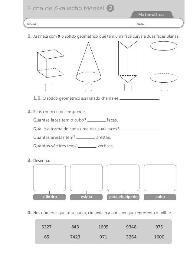Fichas De Avaliacao Mensal 3º Com Imagens Ficha De Avaliacao