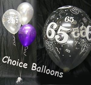 bling 65th birthday party centerpieces | Happy Birthday Party Helium Balloon Decoration DIY Clusters Kit -10 ...