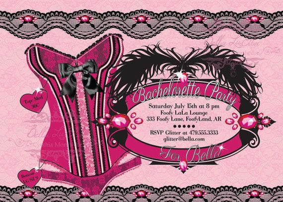 Bachelorette Party Invitation, Bachelorette Party, Lingerie Shower Invitations