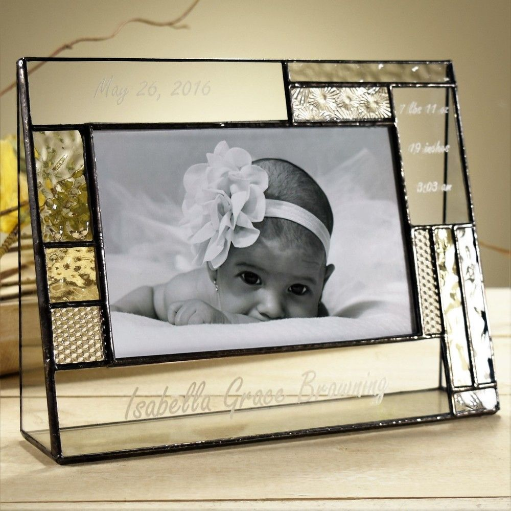 Personalized Gifts-J Devlin Glass Photo Frame-Baby-Engraved 4x6 ...
