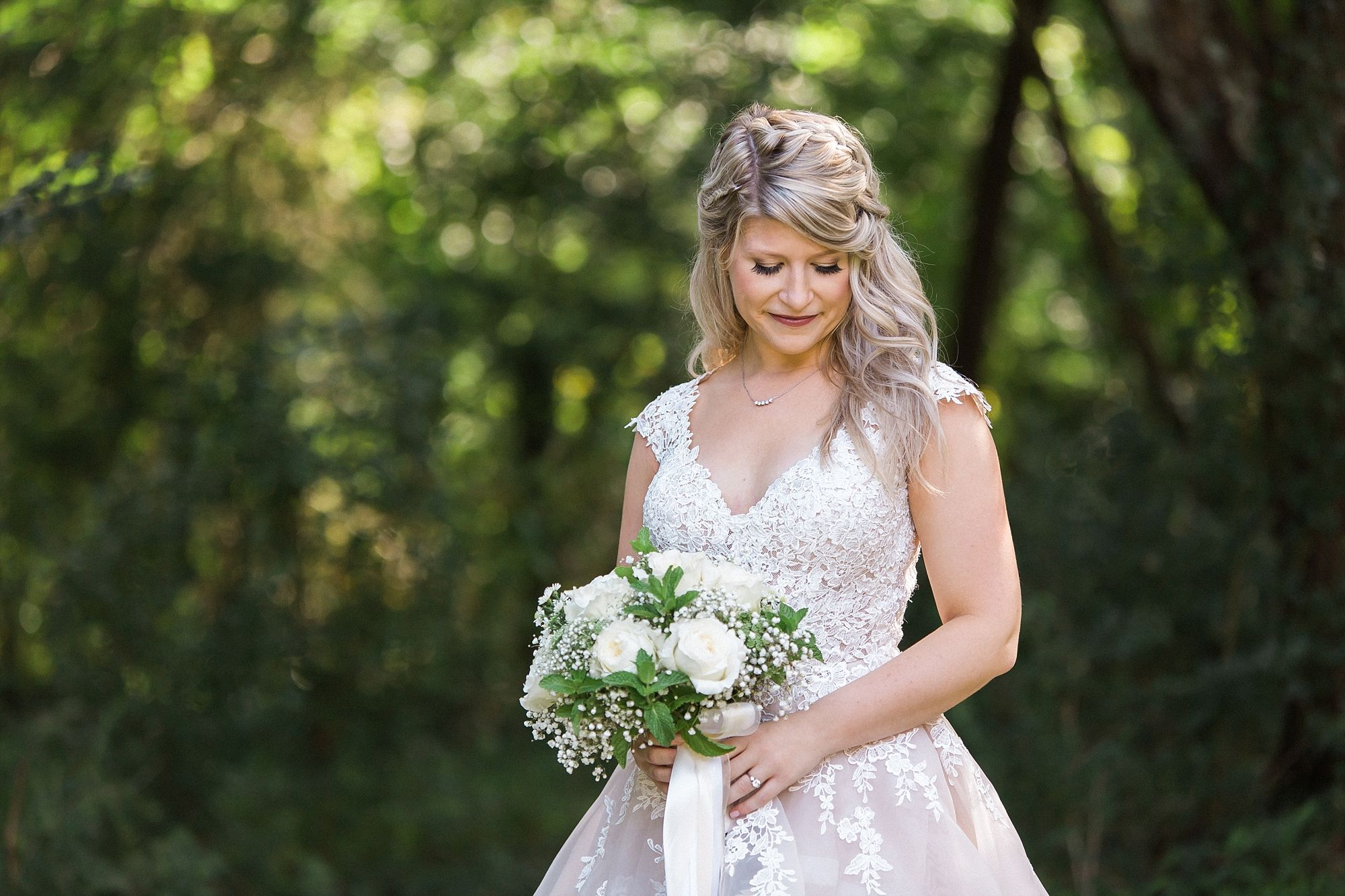 gorgeous bride, the perfect gown. backyard, garden wedding in