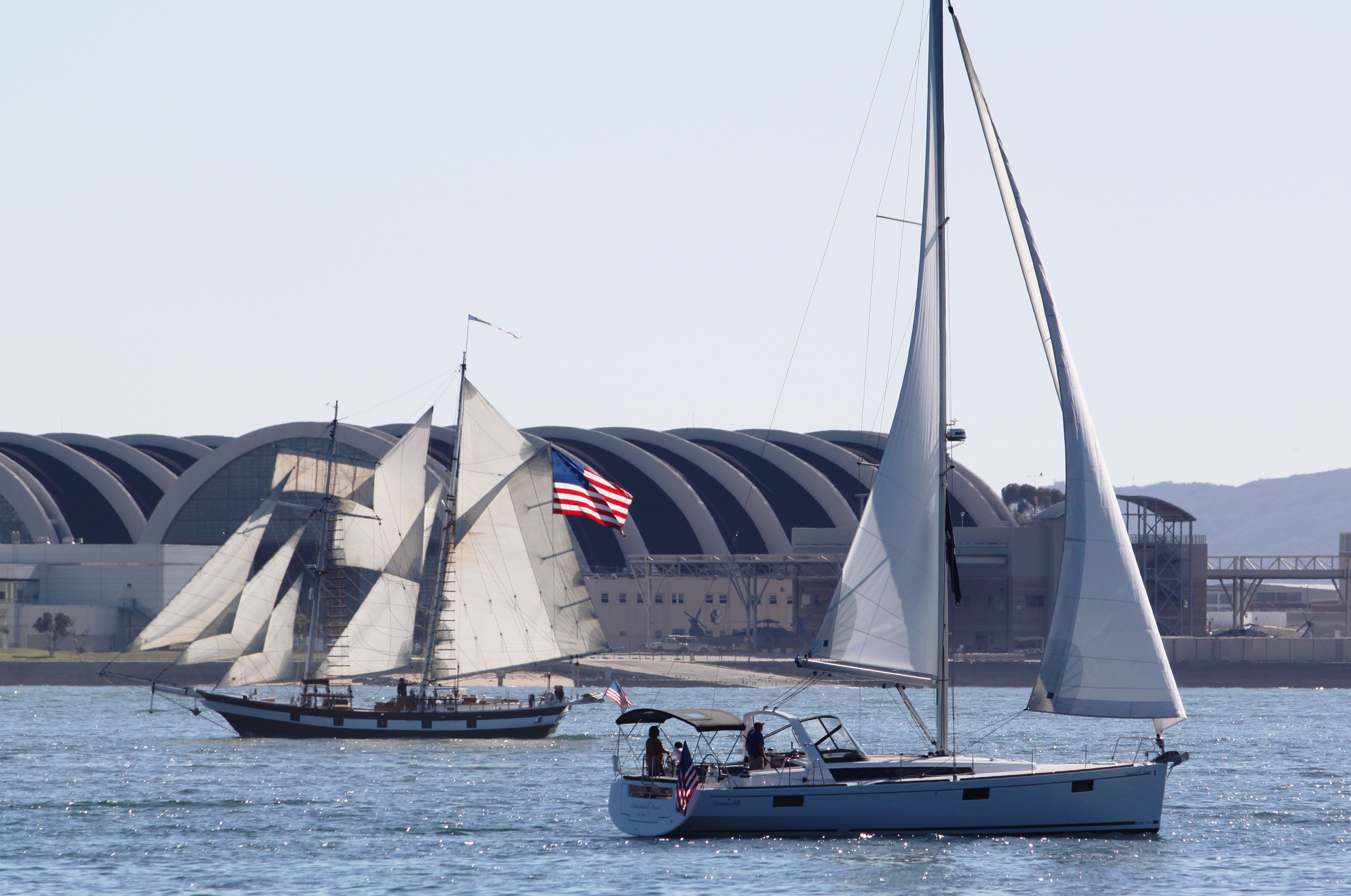 Beneteau Oceanis 48 And Classic Schooner Amazing Grace Sailboats