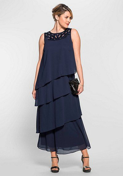 Abendkleid mit Pailletten | Abendkleid, Abendgarderobe ...