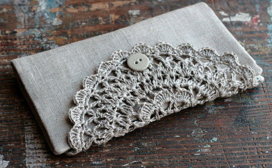 Linen Crochet Hook Case - Holder - Organizer   Decke detail ...