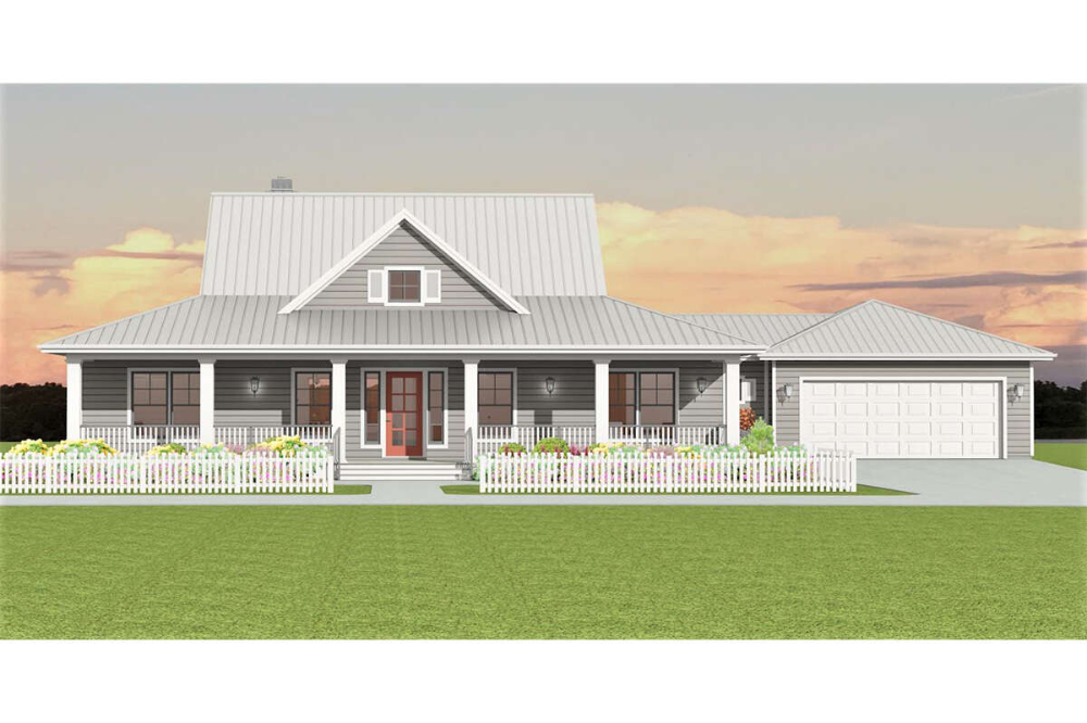 Farmhouse House Plan 3125