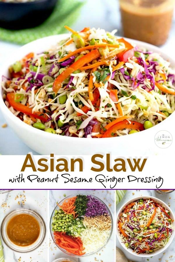 Photo of Asian Slaw with Peanut Sesame Ginger Dressing
