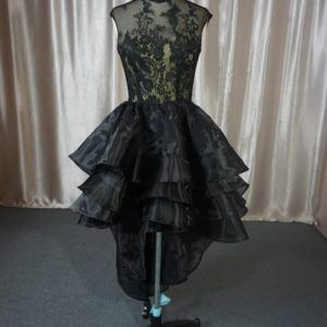 This cap sleeve black lace cocktail formal dress by Darius can be made with any design changes you need.  Adding a longer sleeve, darker lining, or longer skirt are all options.  We make custom #eveningdresses for clients from all over the globe.  We can also make #replicadresses for you if the original is too costly but you still want the same look and style.  Contact us directly for pricing and more details.